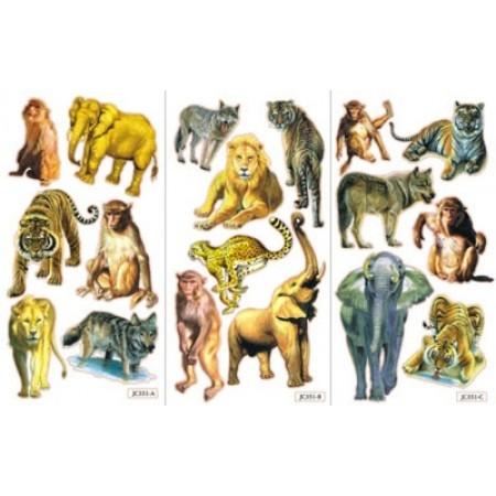Abţibild animale sălbatice 1