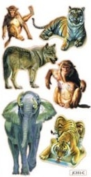Abţibild animale sălbatice 0