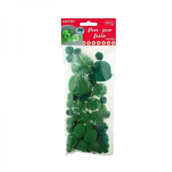 Pom-pom festiv verde 0