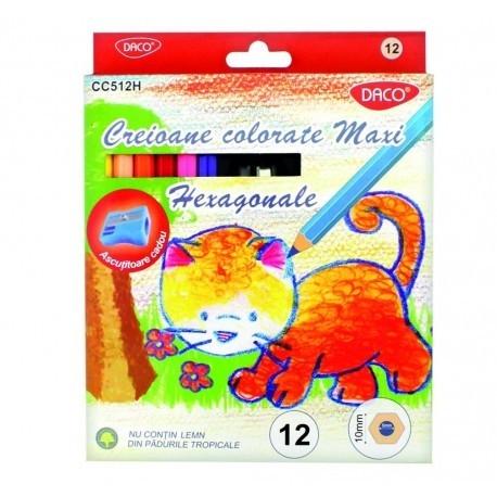 Creion color 12 cul MAXI hexagonal 0