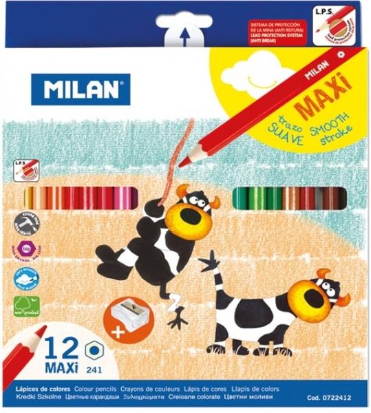 Creion color 12 maxi hexagonal Milan 0