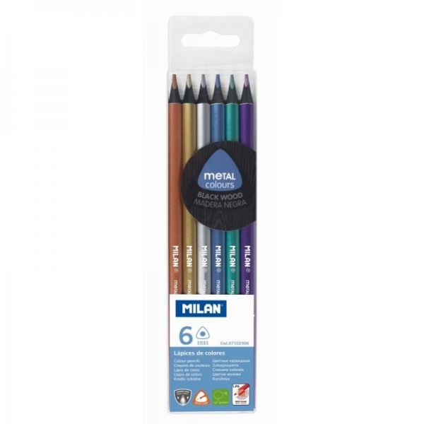 Creion color 6 Metalizat MILAN [0]