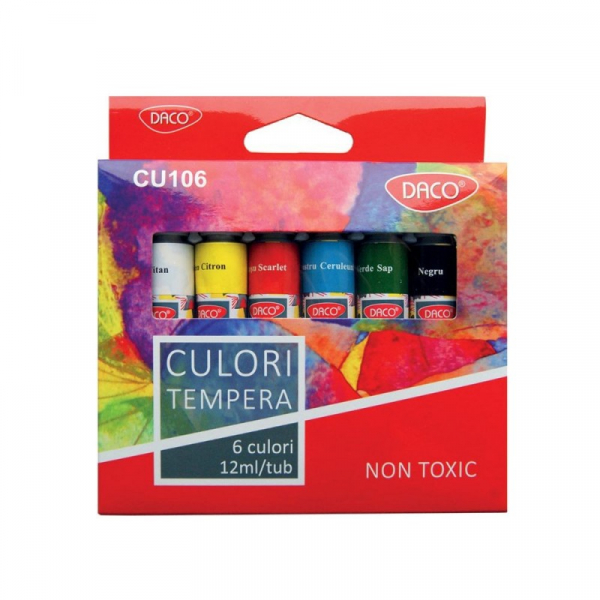 Set 6 culori tempera tub 0