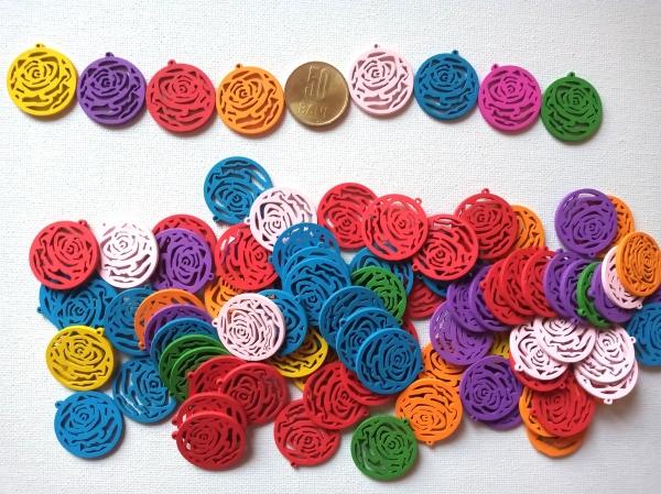 Figurine lemn - medalion trandafir 0