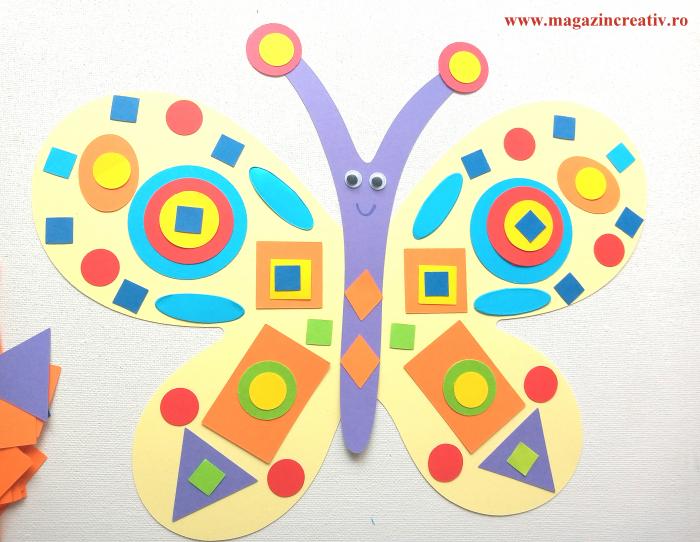 Fluture decorat cu figuri geometrice - set creativ carton [1]