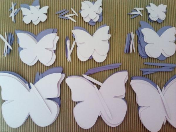 Fluturi carton - set creativ 3 marimi 0