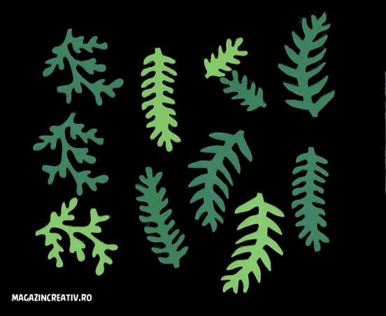Frunze decor verde 0