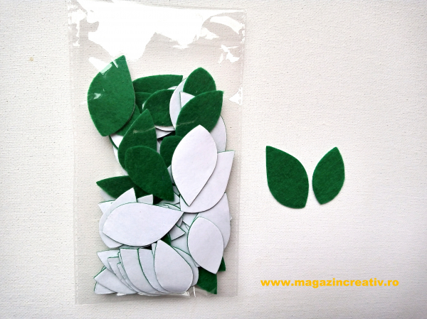 Frunze flori fetru 0