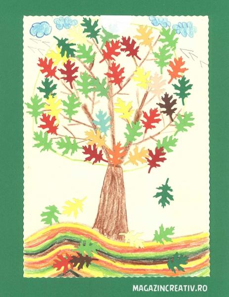 Frunze stejar toamna 2,5 cm 1
