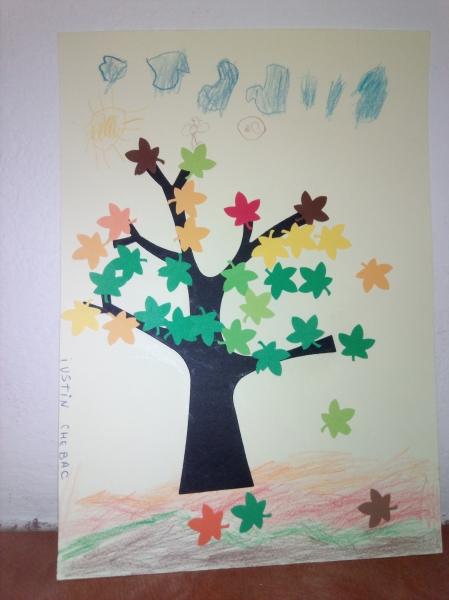 Frunze stejar toamna 2,5 cm 3