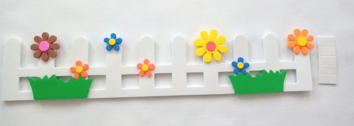 Gardulet decorativ cu flori 45 cm [0]