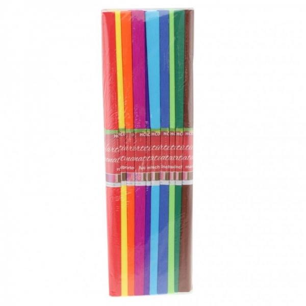 Hârtie creponată asortată 10 culori 0