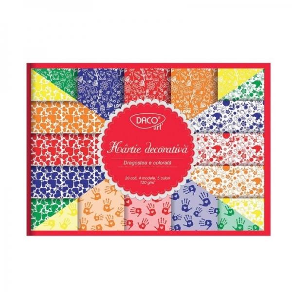 Hârtie decorativă Dragostea e colorată 0
