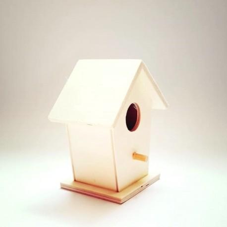 Casuta  lemn (hranitoare) pasari - accesorii decorat 0