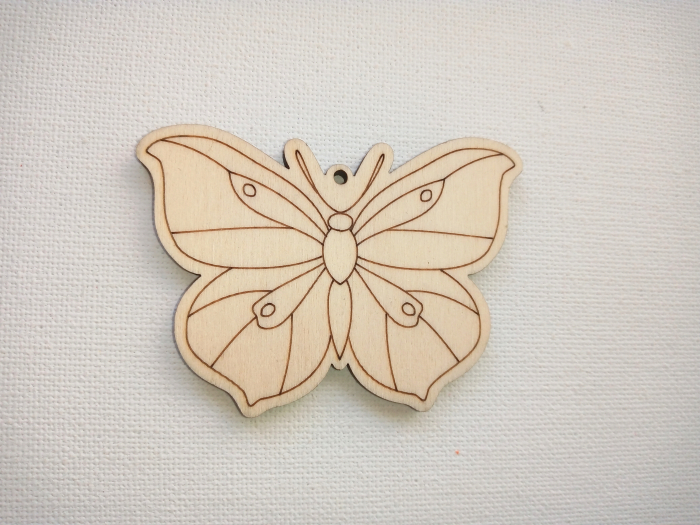 Accesorii lemn - fluturi 7 cm 0