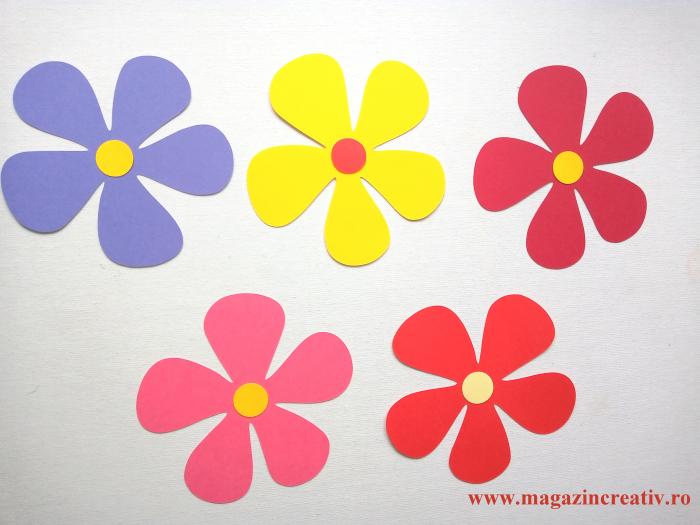 20 flori decor 10 cm 0