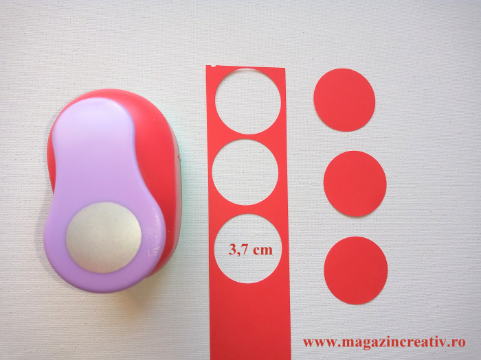 Perforator cu model cerc 3,7 cm 0