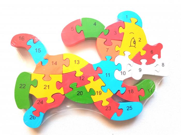Puzzle din lemn model caine 0