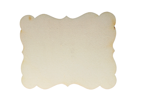 Forme din lemn - dreptunghi mare cu valuri 13 cm [0]