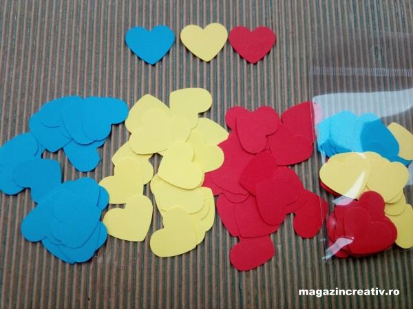 Inimi tricolor 2,5 cm 0