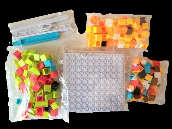 Mozaic cu piese patrate si dreptunghiulare 248 piese 1