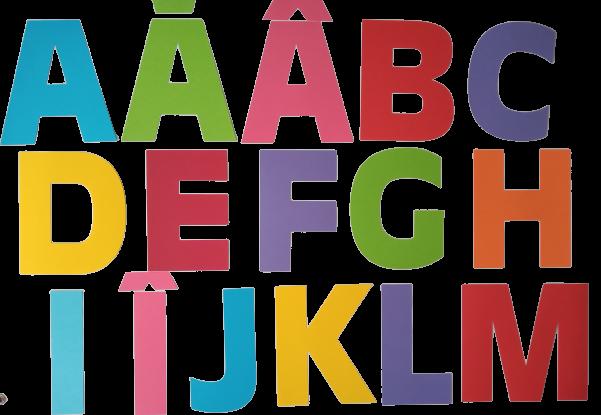 Literele alfabetului carton, 19,5 cm 0