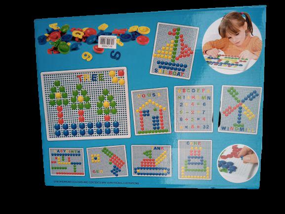 Set mozaic - pioneze, cifre si litere 3