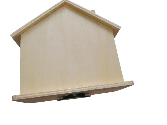 Pusculita lemn blanc - casa 1