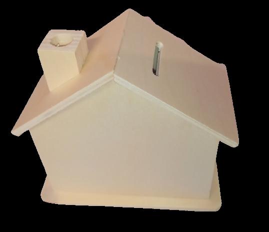 Pusculita lemn blanc - casa 0