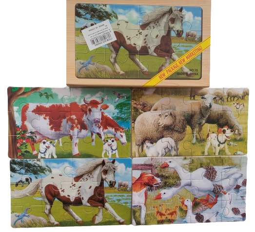 Puzzle animale domestice mari 0