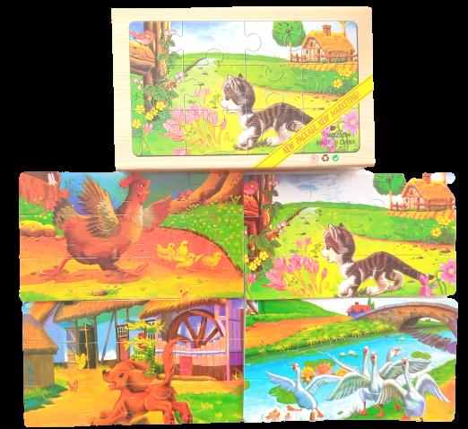 Puzzle animale domestice mici [0]