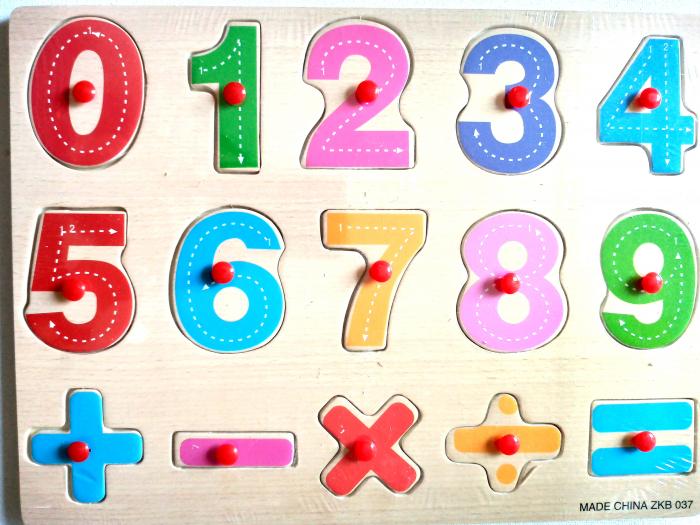 Puzzle lemn incastru - cifre [0]