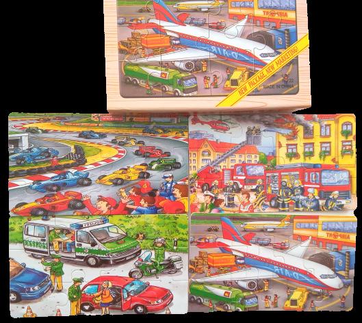 Puzzle mijloace de transport 0