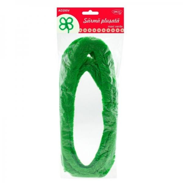 Sârmă pluşată maxi verde 0