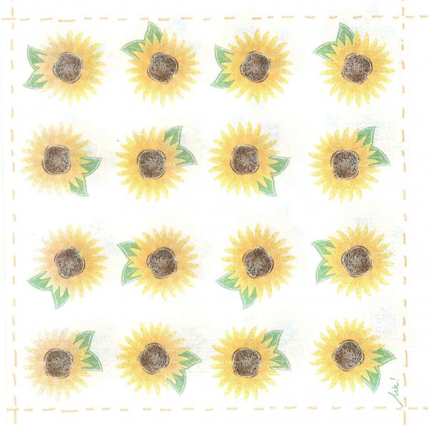 Servetel mini floarea soarelui [0]