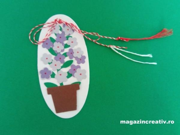 Set confecţionare 30 mărţisoare Ghiveci cu flori violet 0