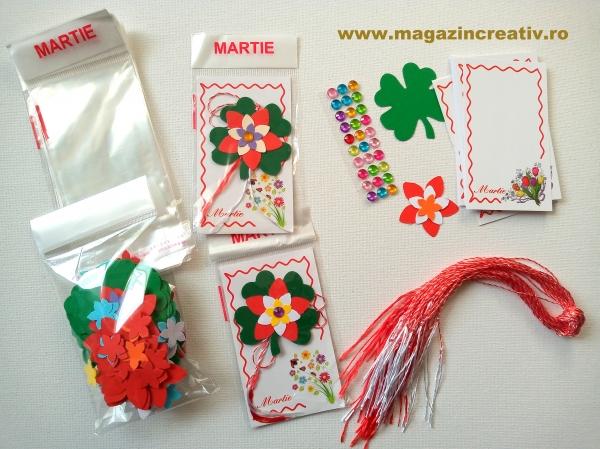 Set confecţionare 30 mărţisoare trifoi şi floare 0