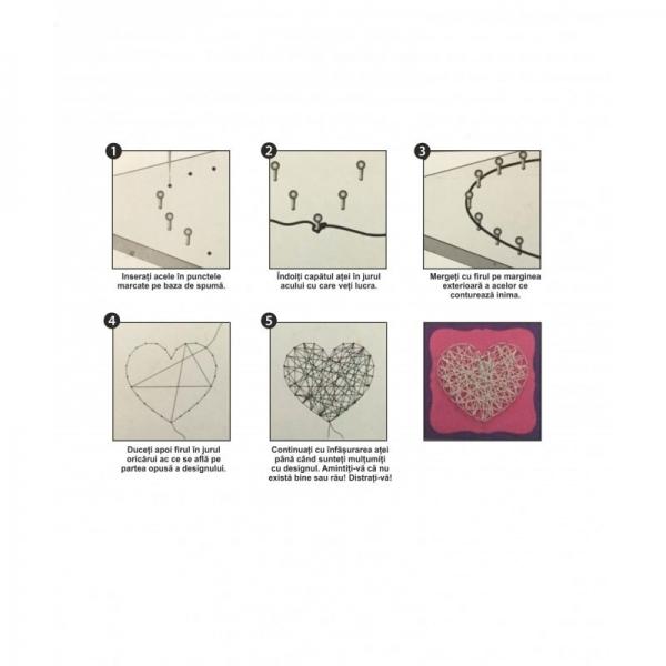 Set creativ - Inimă de ață 0