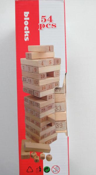 Joc lemn blocks - turnul instabil 0