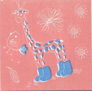 Servetel decorativ girafa0