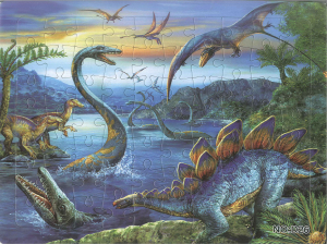 Puzzle 70 piese - dinozauri0