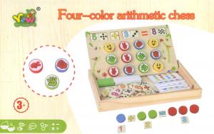Tablita four colour - joc matematic lemn1