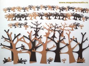 Copaci carton - set 72 bucati0
