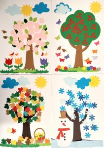 Anotimpuri - 4 seturi creative carton [0]
