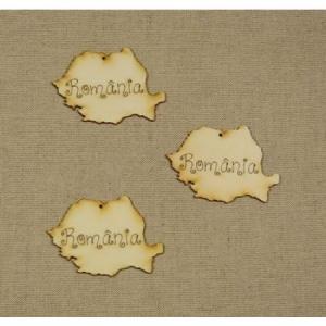 Forma din lemn: harta Romania 8 cm1