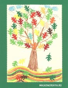 Frunze stejar toamna 2,5 cm1