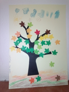 Frunze stejar toamna 2,5 cm3