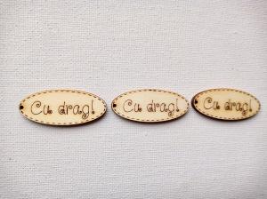 Forme din lemn. Medalion CU DRAG!, set 4 buc1