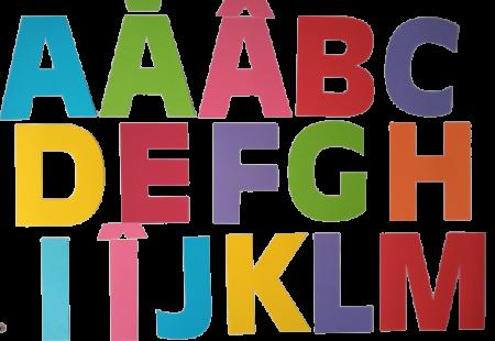 Literele alfabetului carton, 19,5 cm0