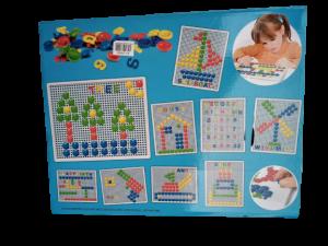Set mozaic - pioneze, cifre si litere3